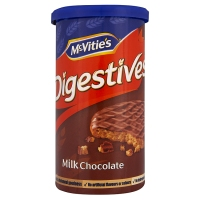 McVitie's Digestives: Milk Chocolate 200 g tube (best by March 21st)
