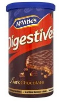 McVitie's Digestives: Dark Chocolate (250 g tube)