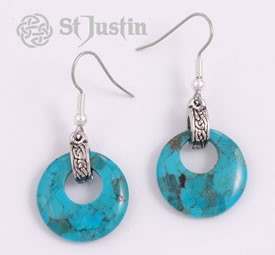 Earrings - Turquoise Circlet