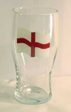 Pint glass - England Flag Tulip