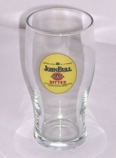 Pint glass - John Bull