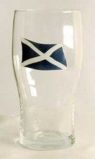 Pint glass - Scottish Flag