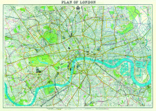 "Poster - Plan of London (19.5"" x 27.5"")"