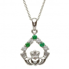 shanore_sterling_silver_claddagh_cubic_zirconia_necklace