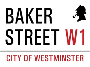 "Metal Sign - Baker Street (12"" x 9"")"