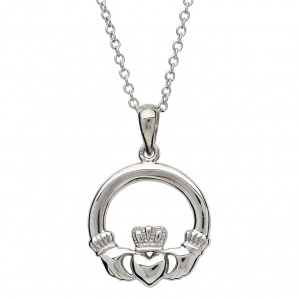 shanore_sterling_silver_claddagh_necklace