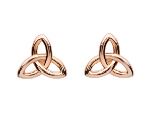 shanore_sterling_silver_trinity_rose_gold-plated_stud_earrings